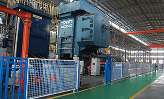 The company's forging production line has added electro-hydraulic hammer and twisting machine equipment.